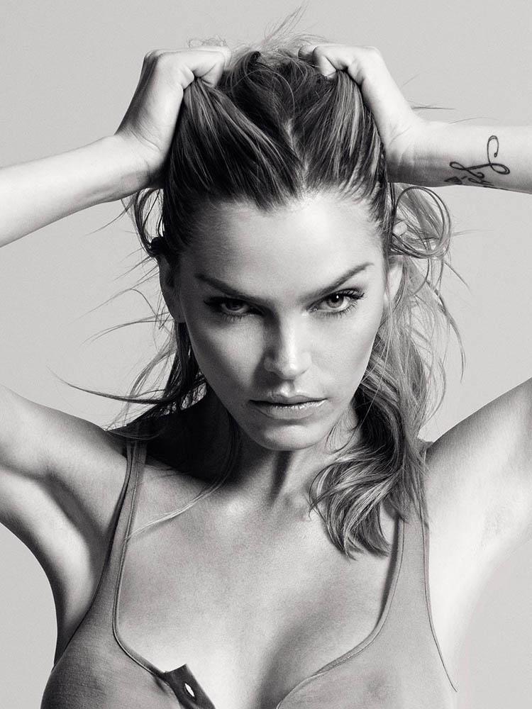 Lykke May Andersen in fashion portrait shoot by danish fashion photographer Henrik Adamsen