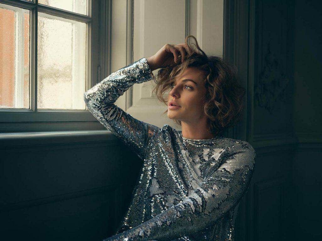 Sarah Grünewald in fashion portrait by danish photographer Henrik Adamsen