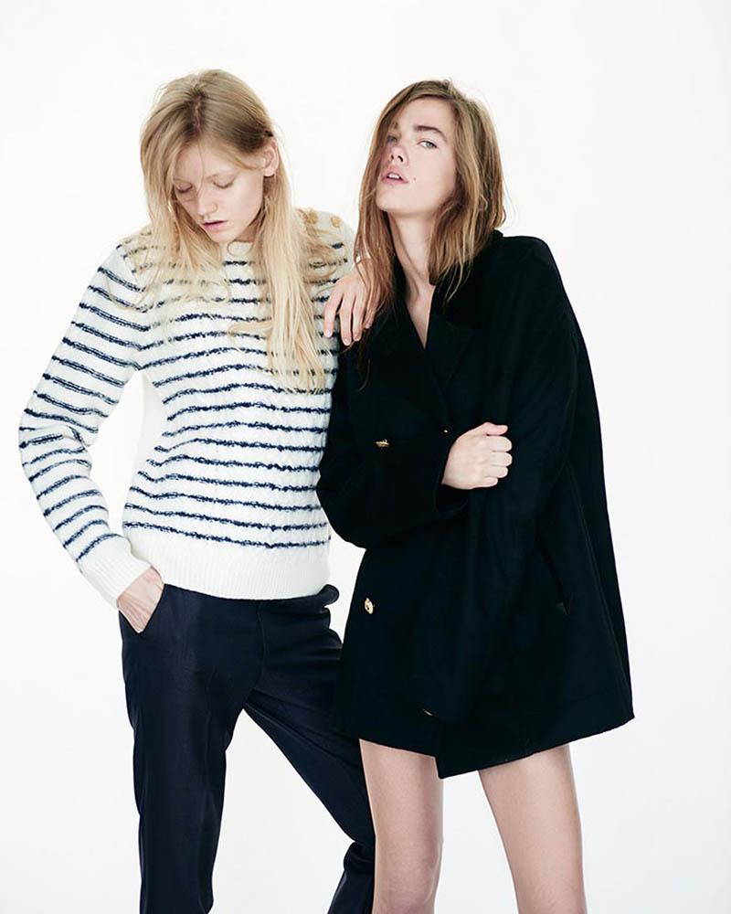 Models Mathilde Brandi and Nanna Vad Strand in fashion editorial shot by danish fashion photographer Henrik Adamsen