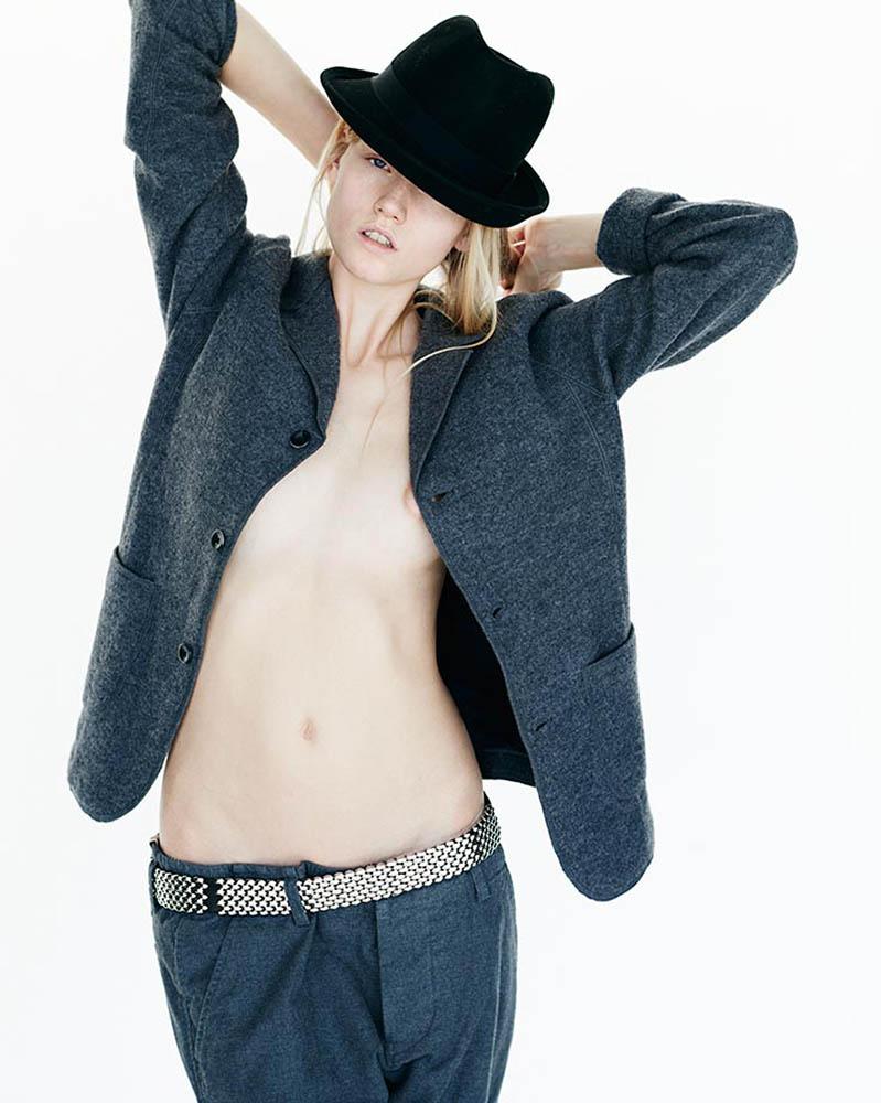 Model Nanna Vad Strand in fashion editorial shot by danish fashion photographer Henrik Adamsen