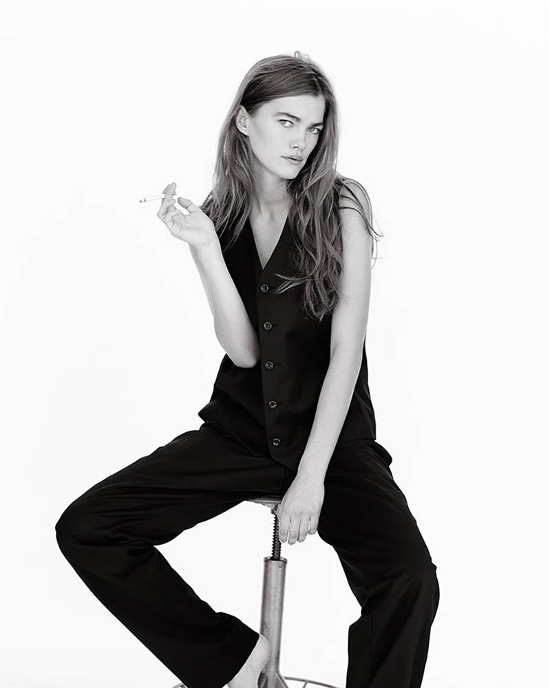 Model Mathilde Brandi in fashion editorial shot by danish fashion photographer Henrik Adamsen