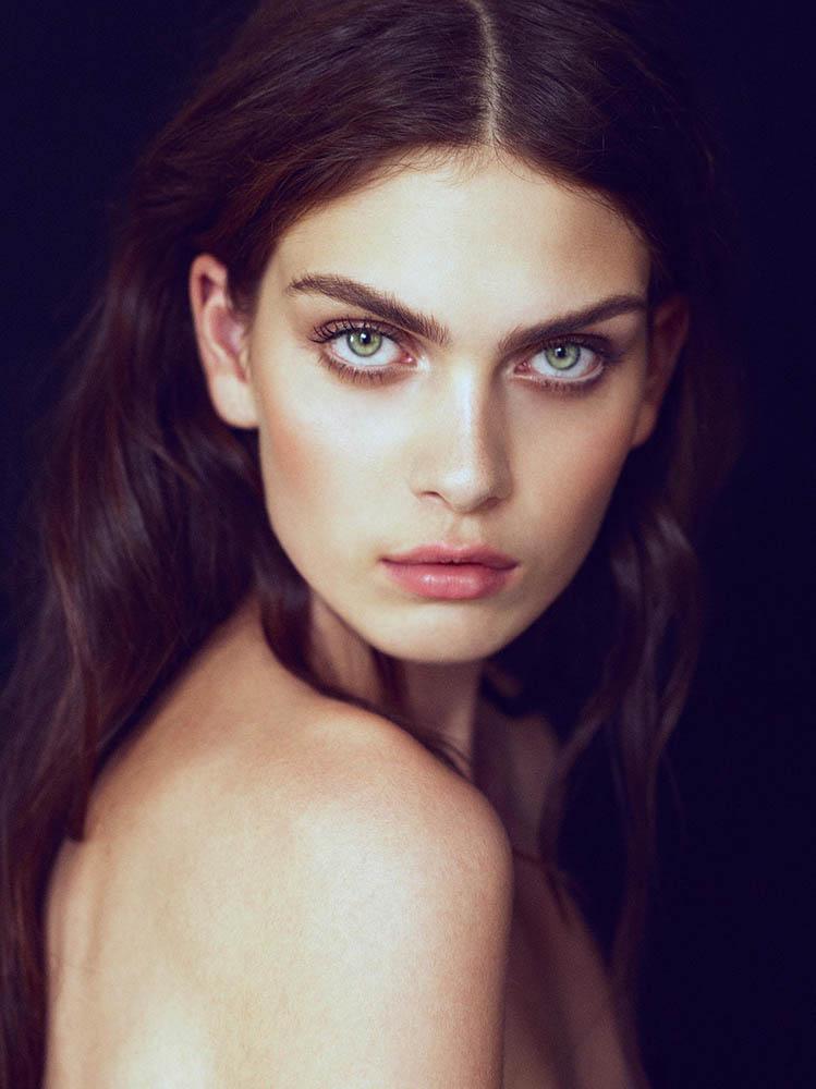 Beauty shoot with Maria Palm Lyduch by danish fashion photographer Henrik Adamsen