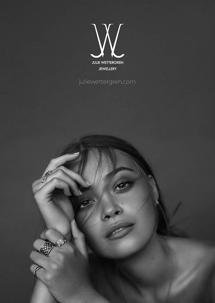 Julie Wettergren jewellery campaign shot by danish fashion photographer Henrik Adamsen