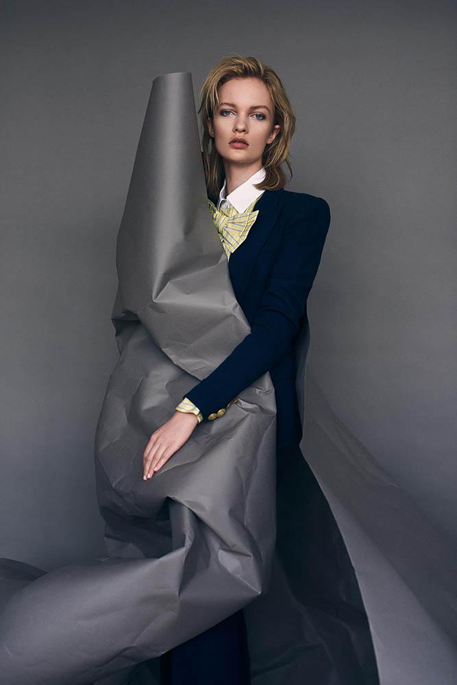 Ida Dyberg in fashion editorial for Grazia Magazine by danish photographer Henrik Adamsen