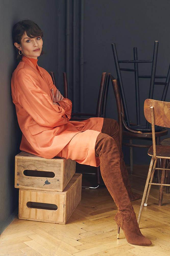 Stine Hjelm Jacobsen in beautiful fashion portrait story by danish fashion photographer Henrik Adamsen