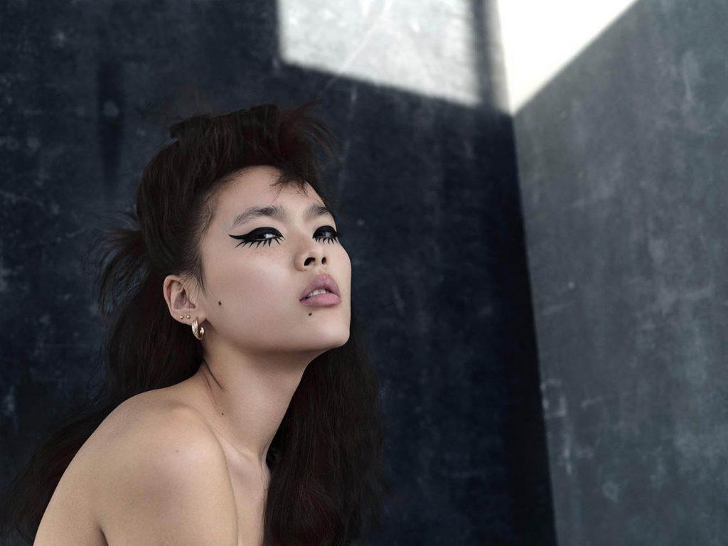 Model Laura Lind in beauty editorial shot by danish fashion photographer Henrik Adamsen in Copenhagen